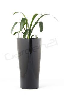 Doniczki samopodlewające G21 Trio czarne 29,5 cm