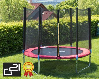 Trampolina ogrodowa G21 z siatką zewnętrzną 250 cm