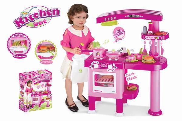 Kuchnia dziecięca G21 duża z akcesoriami różowa