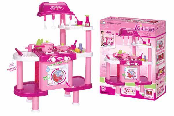 Kuchnia dziecięca G21 z akcesoriami różowy II.