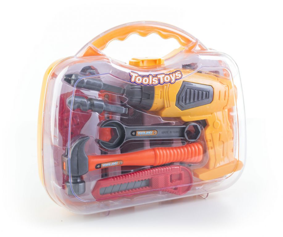 G21 Zabawka dla dziecka narzędzia i wiertarka- żółty / szary