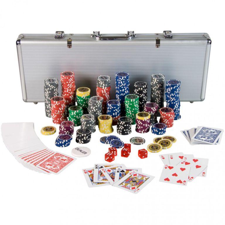 Komplet do Pokera 500 szt żetony laserowe Ultimate