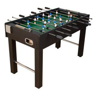 Piłkarzyki stół piłkarski MDF czarny 121 x 101 x 79 cm
