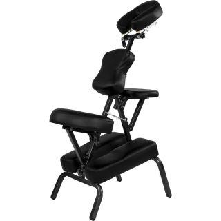 Krzesło fotel do masażu MOVIT składany czarny