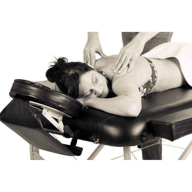 Przenośne łóżko do masażu MOVIT czarne + torba