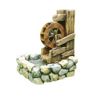 Fontanna ogrodowa - koło wodne