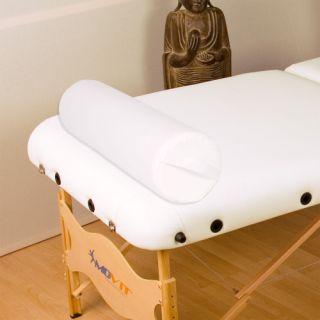 Zagłówek poduszka do masażu biały wałeczek 68 cm