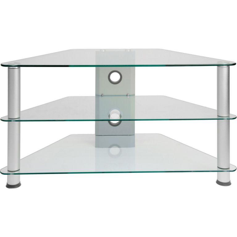 Stolik pod telewizor - szklany 96 x 46 x 50 cm