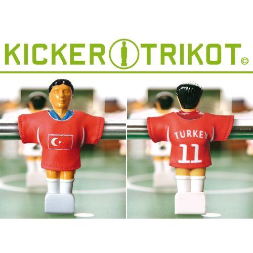 Komplet 11 koszulek reprezentacji państw dla postaci do piłkarzyków - Turcja