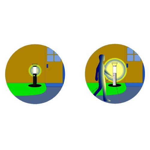 Ogrodowa lampa solarna z czujnikiem ruchu 38 cm