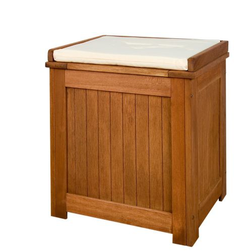 Skrzynia ogrodowa, kufer z poduszką 43 x 55 x 62 cm