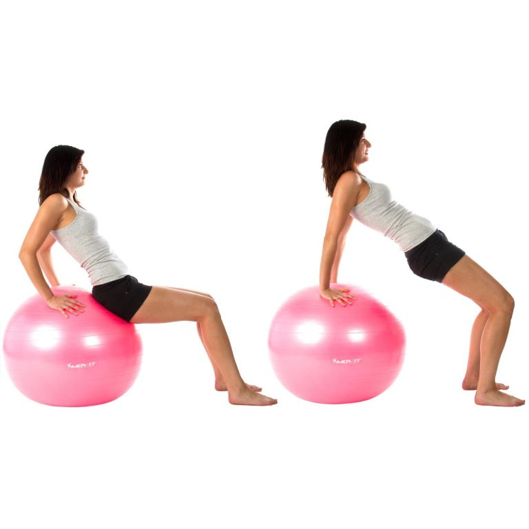 Piłka gimnastyczna MOVIT 75 cm różowa