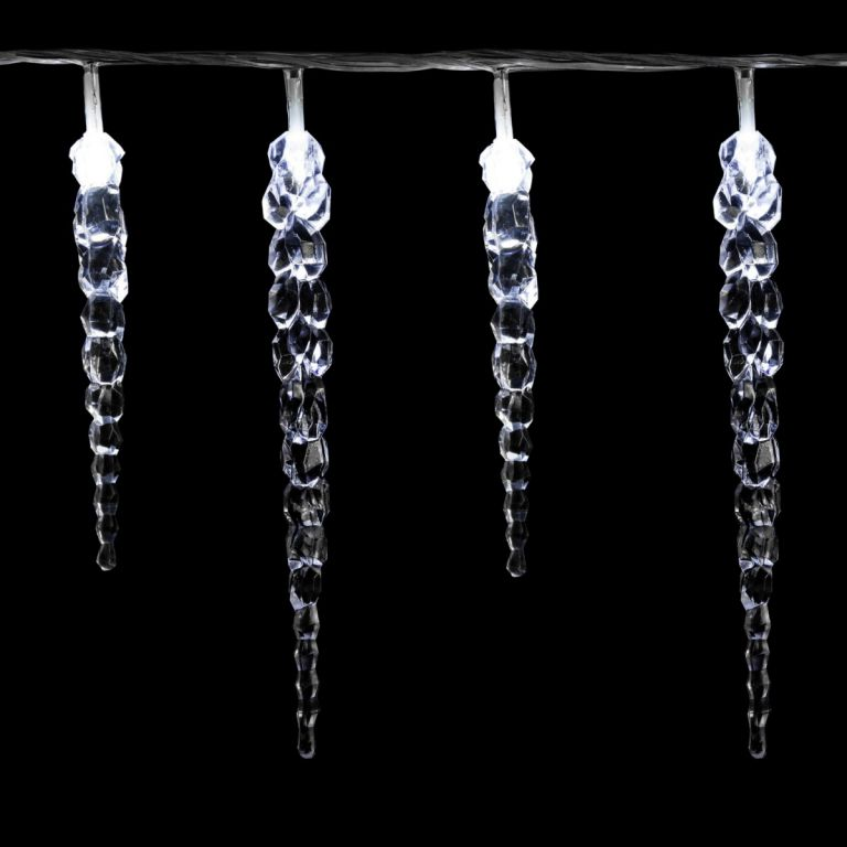 Świąteczne dekoracyjne oświetlenie – sople – 40 LED – zimny biały