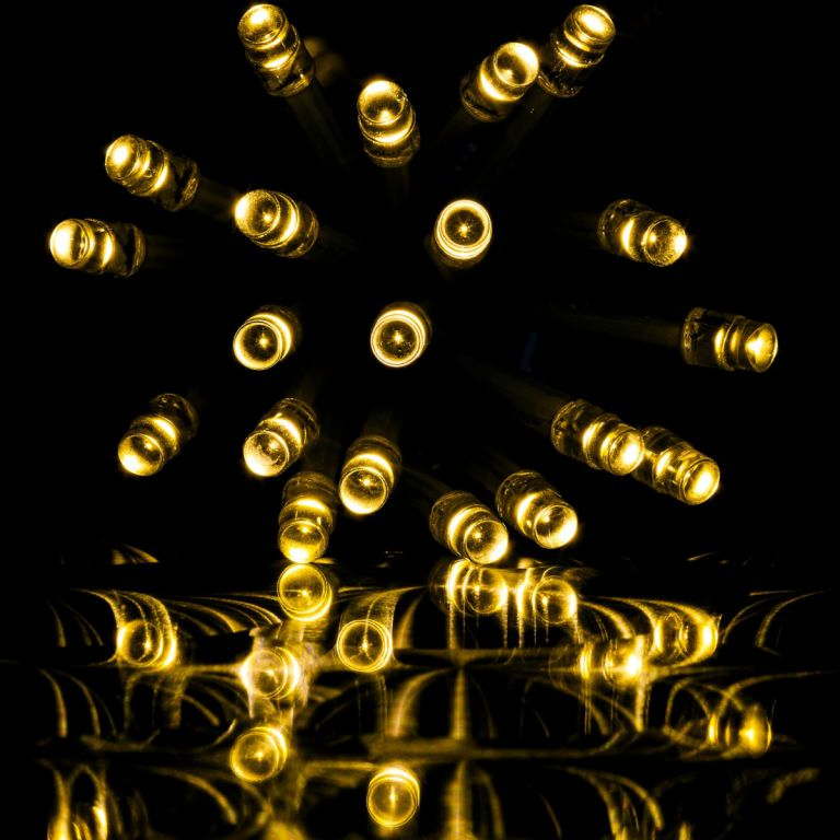 świąteczne Oświetlenie 10 M Ciepły Biały 100 Led