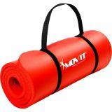 Mata piankowa MOVIT do jogi i gimnastyki 190 x 60 x 1,5 czerwona