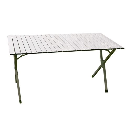 Aluminiowy stół kampingowy składany 141 x 70 cm