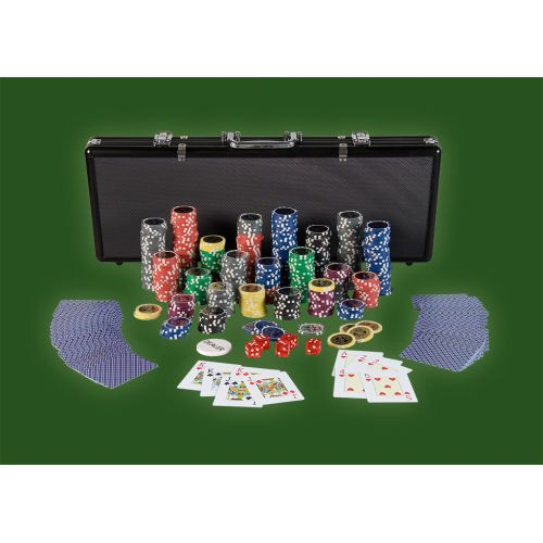 Zestaw do pokera, 500 żetonów Ultimate black