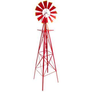 Czerwony wiatrak, 245 cm