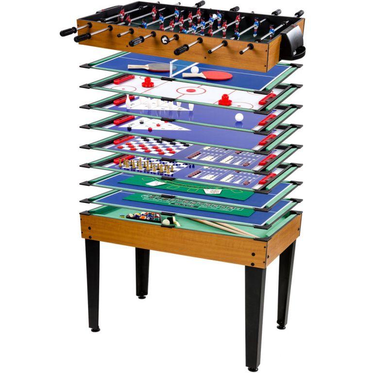 Wielofunkcyjny stół do gry 15 w 1 - buk