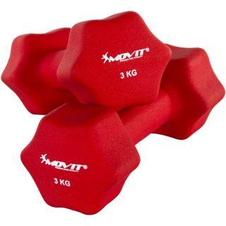 Zestaw 2 x Hantle neoprenowe MOVIT 3 kg