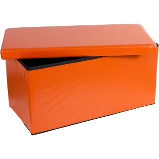 Składana ławka ze schowkiem - pomarańczowy