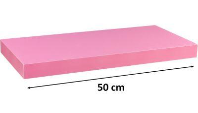 Półka ścienna STILISTA Volato wolnowisząca różowa, 50 cm