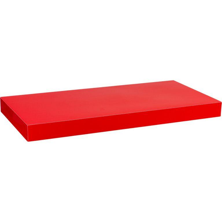 Półka ścienna STILISTA Volato wolnowisząca czerwona z połyskiem, 50 cm