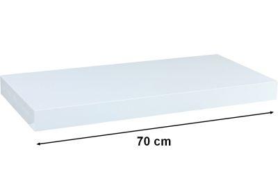 Półka ścienna STILISTA Volato biała z połyskiem,70 cm