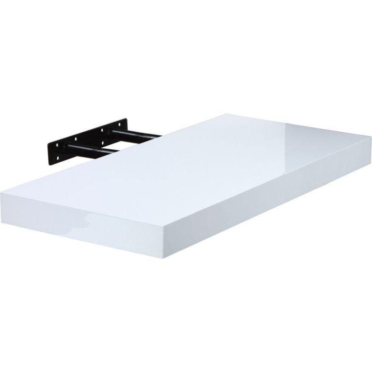 Półka ścienna STILISTA Volato biała z połyskiem 90 cm