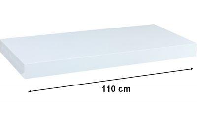 Półka ścienna STILISTA Volato biała, 110 cm