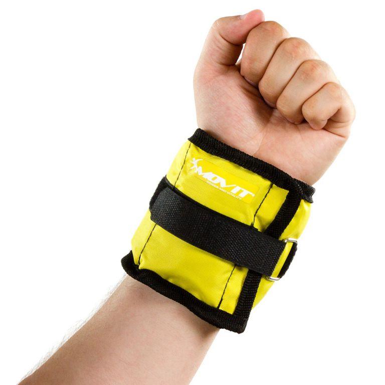 Obciążniki MOVIT na ręce i nogi do ćwiczeń 2 x 0,5 kg żółte