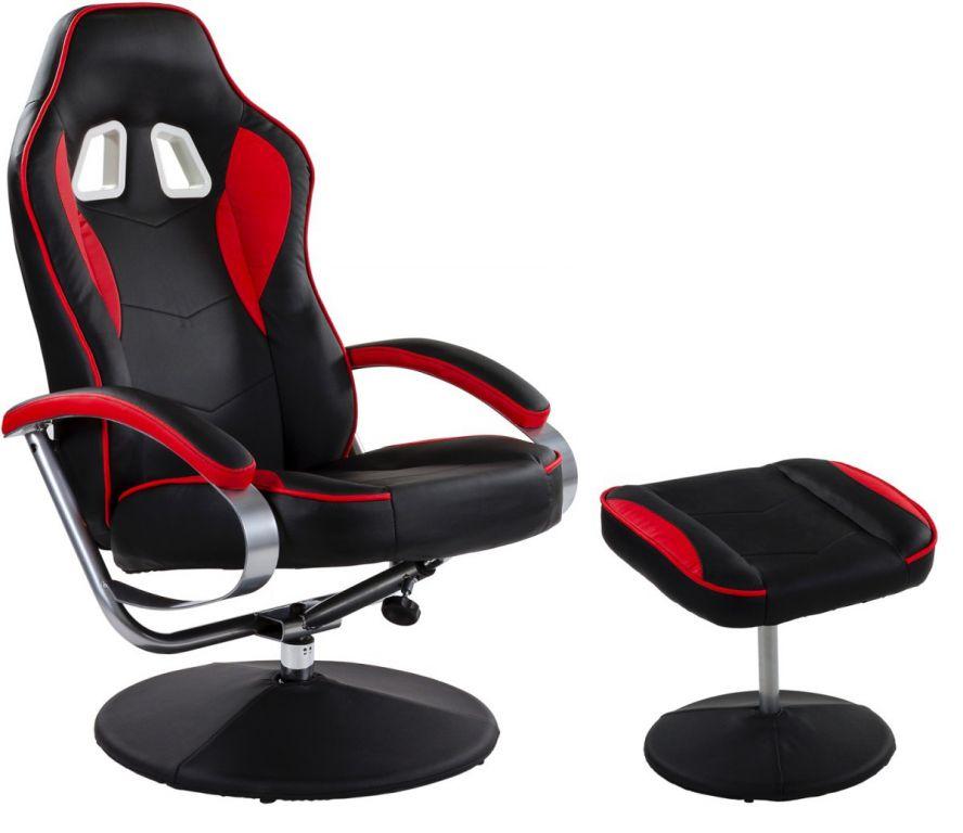 Krzesło obrotowe GT RELAX RACER czarno czerwonym