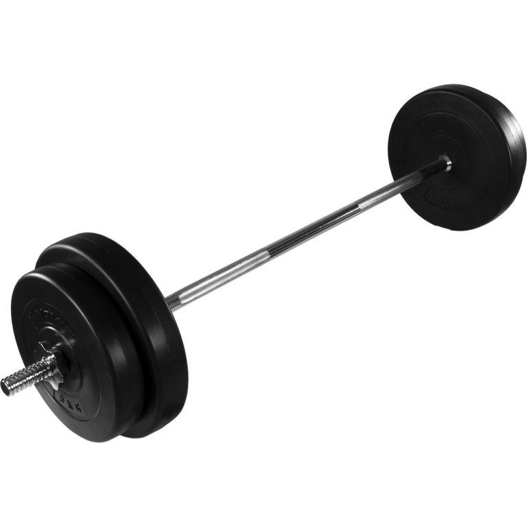 Gryf profesjonalny prosty MOVIT + zestaw obciążeń 30 kg