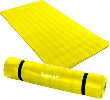 Mata piankowa MOVIT do jogi i gimnastyki 190 x 100 x 1,5 żółta