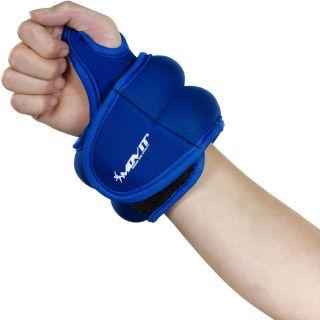 Ciężarki na ręce MOVIT 2 x 1 kg neopren niebieski