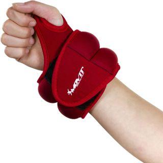 Ciężarki na ręce MOVIT 2 x 2 kg neopren czerwony