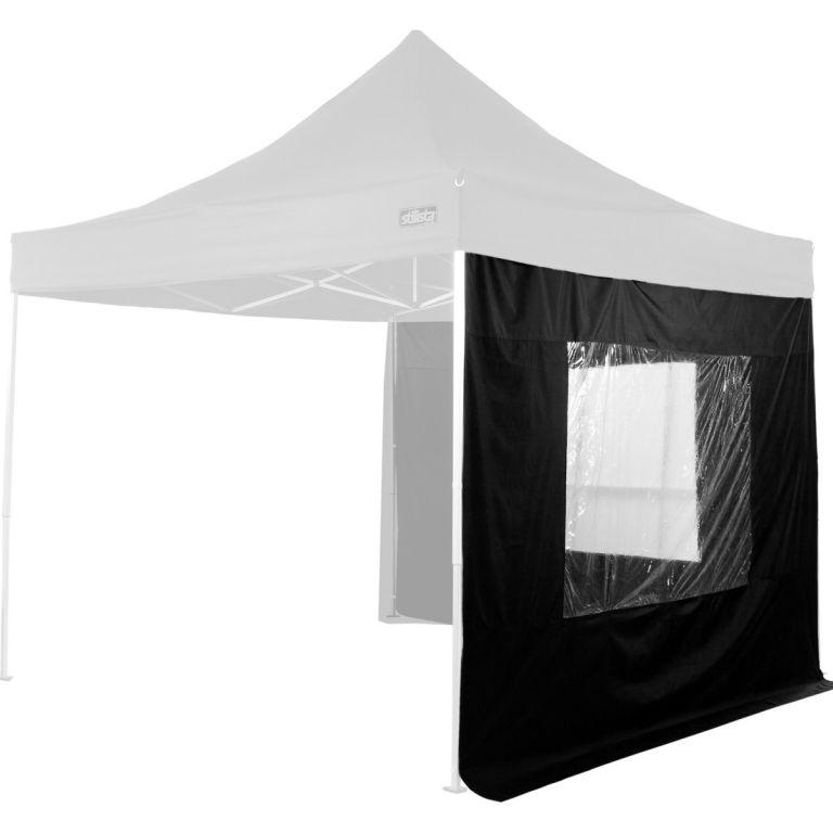 2 ścianki boczne marki STILISTA do pawilonu ogrodowego 3 x 3 m, czarny