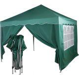 Namiot ogrodowy, party, nożycowy 3x3m +2 ściany - kolor zielony