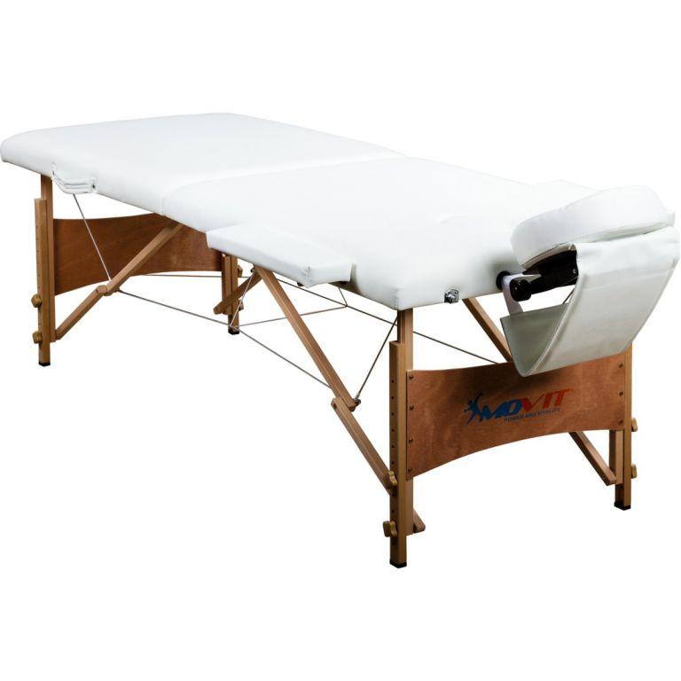 Przenośny stół do masażu białe Movit 184 x 70 cm