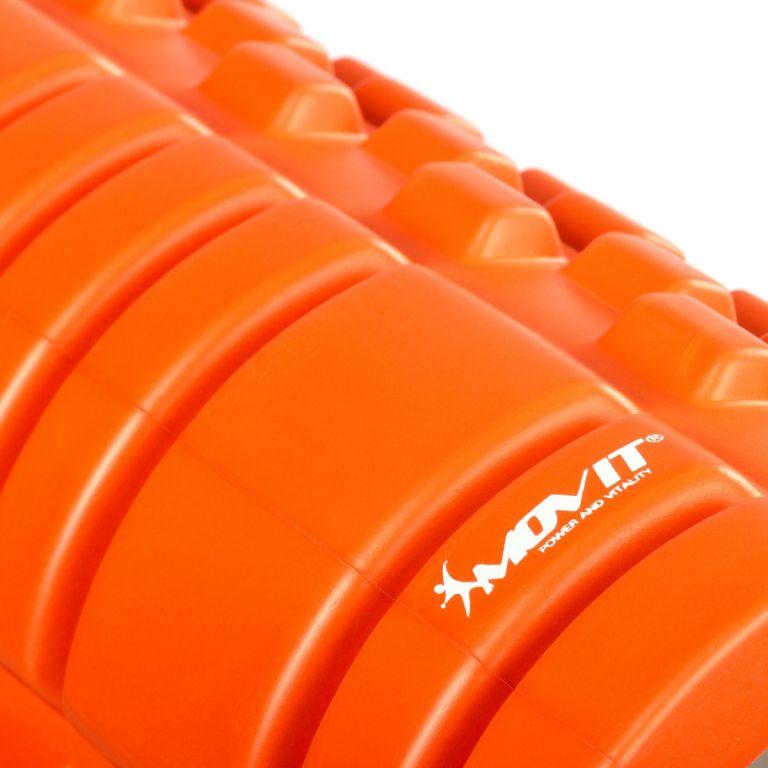 Wałek do masażu MOVIT 33 x 14 cm, pomarańczowy