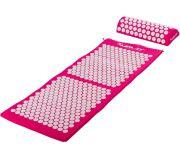 Mata akupresurowa z poduszką MOVIT 130 x 50 cm - różowa