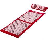 Mata do akupresury z poduszką Movit 130 x 50 cm - czerwona