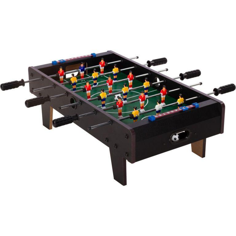 Mini piłkarzyki stołowe z nożami 70 x 37 x 25 cm - czarne