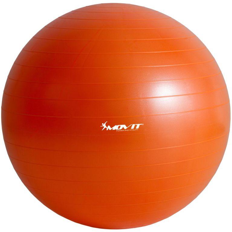 Piłka gimnastyczna MOVIT z pompką - 85 cm - Pomarańczowa