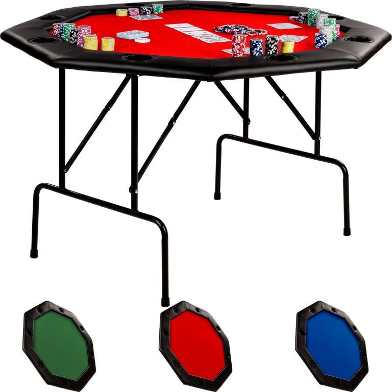 Stół do pokera - czerwony