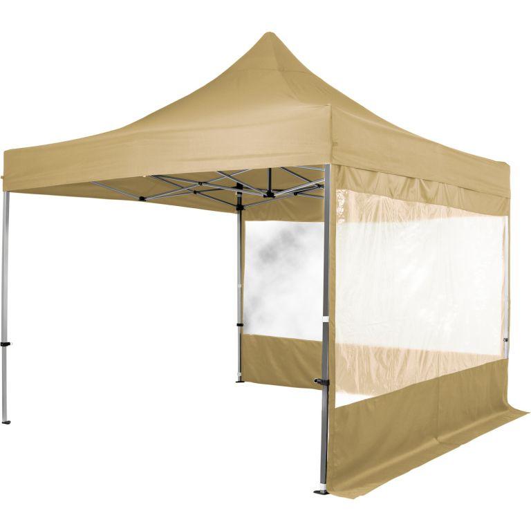 Namiot ogrodowy INSTENT nożycowy 3 x 3 m + 2 ściany boczne - kolor szampan
