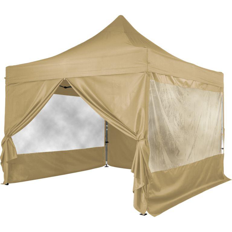 Namiot ogrodowy INSTENT 3x3 m + 4 ściany boczne - Szampan