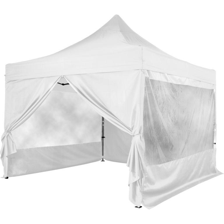 Namiot ogrodowy INSTENT 3 x 3 m + 4 ściany boczne - kolor biały