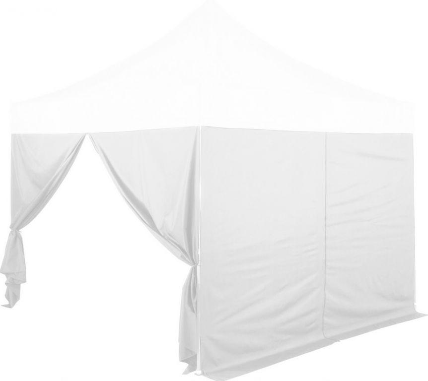 Zestaw 2 ścian bocznych do namiotów INSTENT 3 x 3 m - kolor biały