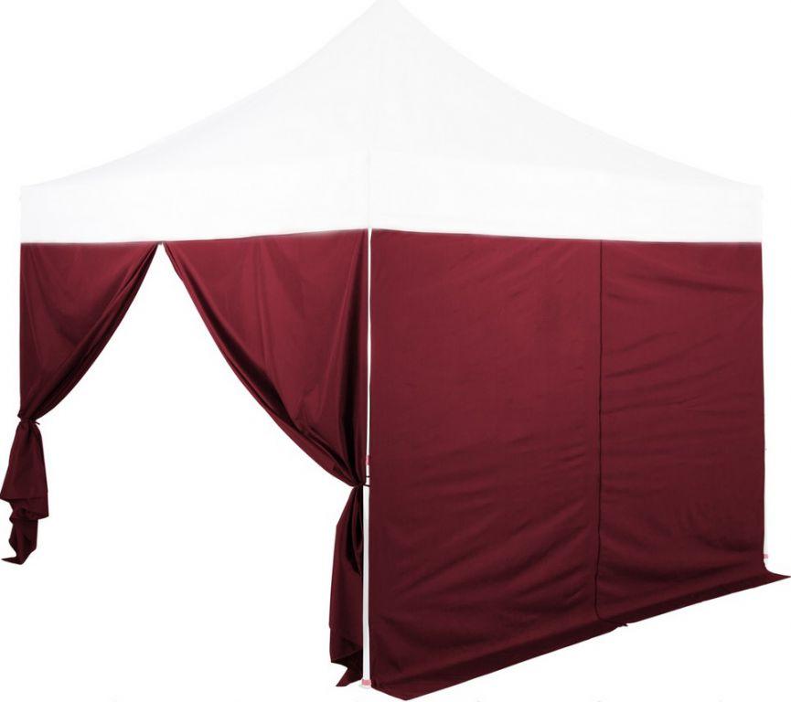 Zestaw 2 ścianek bocznych na INSTENTOWE namioty 3 x 3 m - kolor bordo